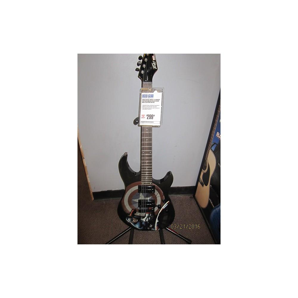 Peavey Predator Marvel Captain America Solid Body Electric Guitar Black 111938450