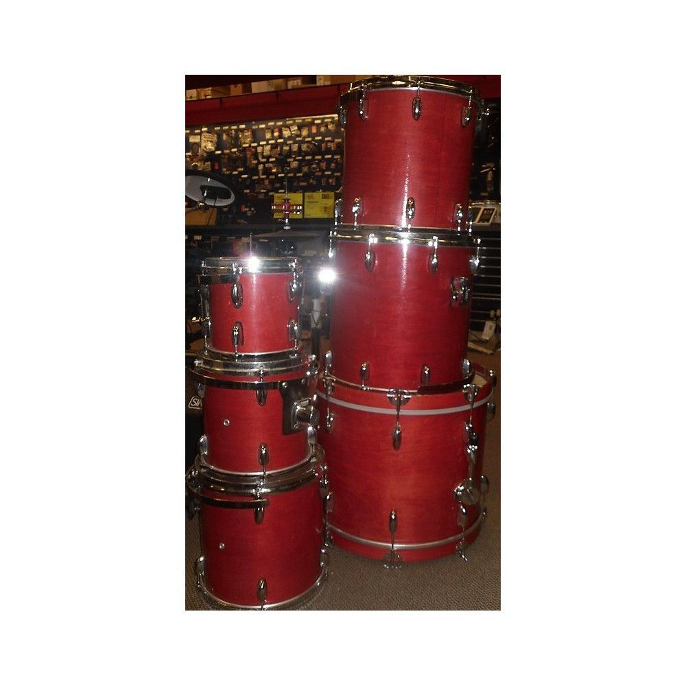 Miscellaneous 1990s 90s Birch Complete Kit Drum Kit Faded Cherry 113133717