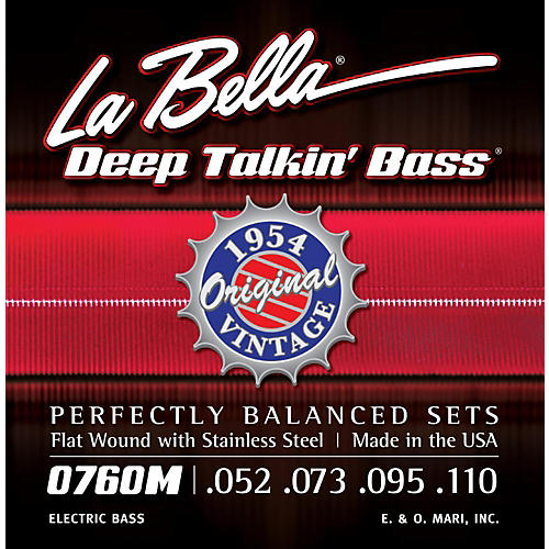 LaBella 0760M Deep Talkin' Bass 1954 Original Flat Wound Electric Bass Strings-thumbnail