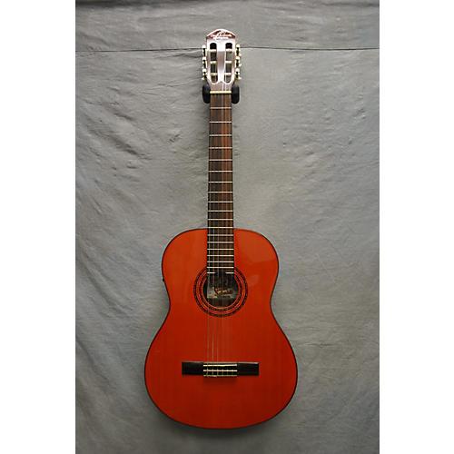 Oscar Schmidt 0c9e Classical Acoustic Electric Guitar Vintage Natural