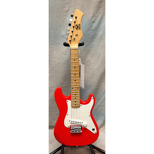 In Store Used 1/2 Size S Style Orange Solid Body Electric Guitar
