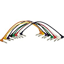 """Musician's Gear 1/4 - 1/4 Patch Cable 8-Pack (17"""")"""