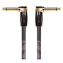 """Boss 1/4"""" Angle - Angle 6"""" Instrument Cable (3-Pack)"""