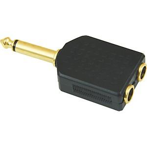 American Recorder Technologies 1/4 inch Male Mono to Two 1/4 inch Female Adapter by American Recorder Technologies