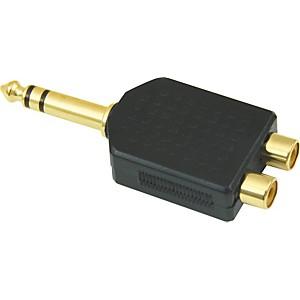 American Recorder Technologies 1/4 inch Male Stereo to 2 RCA Female Adapter by American Recorder Technologies