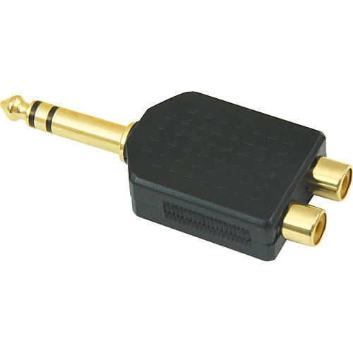 American Recorder Technologies 1/4 inch Male Stereo to 2 RCA Female Adapter-thumbnail