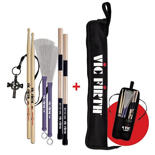 Vic Firth 1 Pair 5A, HB, RUTE606, VICKEY w/Free ESB Stick Bag