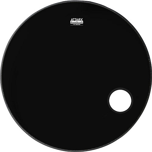 Attack 1-Ply No Overtone Ported Black Drumhead