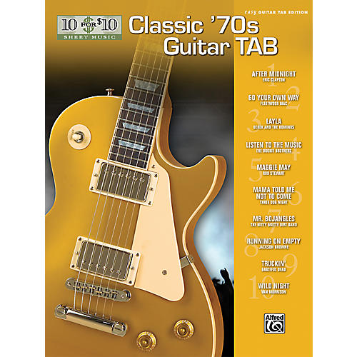 Alfred 10 For $10 '70s Guitar Tab Book-thumbnail