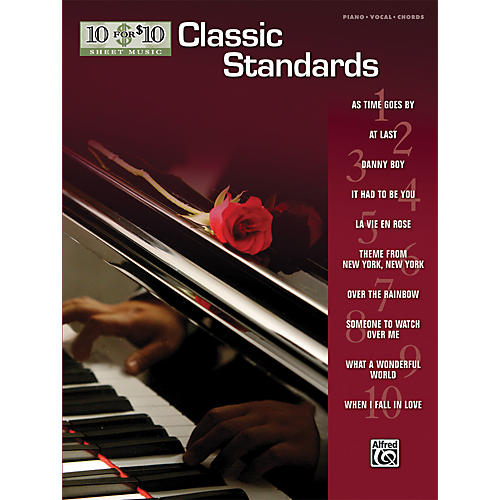 Alfred 10 For $10 Classic Standards (Piano, Vocal, and Chords Book)