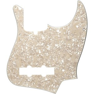 Fender 10-Hole Standard Jazz Bass Pickguard Aged White Pearl by Fender