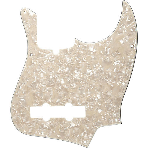 Fender 10-Hole Standard Jazz Bass Pickguard Aged White Pearl-thumbnail