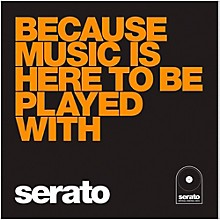 SERATO 10 Inch Control Vinyl - Performance Series Because Music is Here to Be Played with Orange Jacket