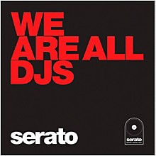 SERATO 10 Inch Control Vinyl - Performance Series We Are All DJs (Red Jacket)