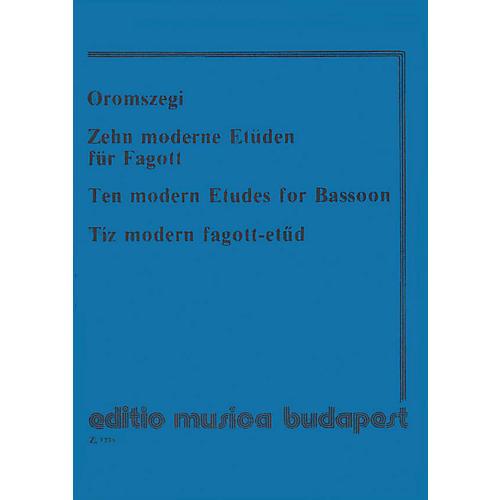 Editio Musica Budapest 10 Modern Etudes-bsn EMB Series