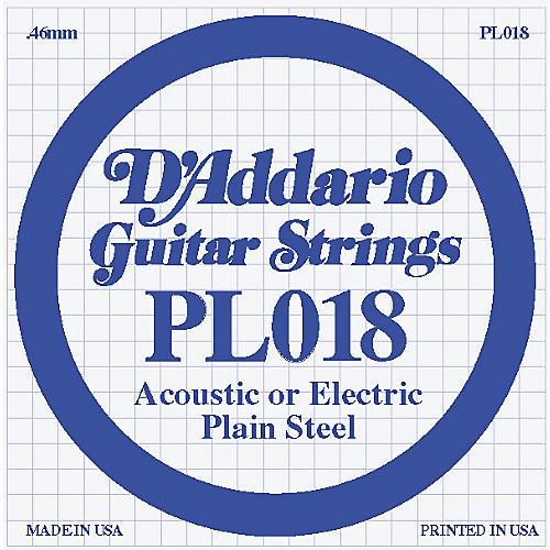 D'Addario 10-Pack Plain Steel Single Gauge Acoustic or Electric Guitar String-thumbnail