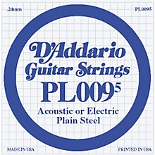 D'Addario 10-Pack Plain Steel Single Gauge Acoustic or Electric Guitar String 10 in. .0095