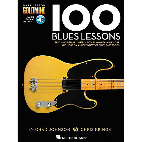 Hal Leonard 100 Blues Lessons - Bass Lesson Goldmine Series Book/Online Audio-thumbnail