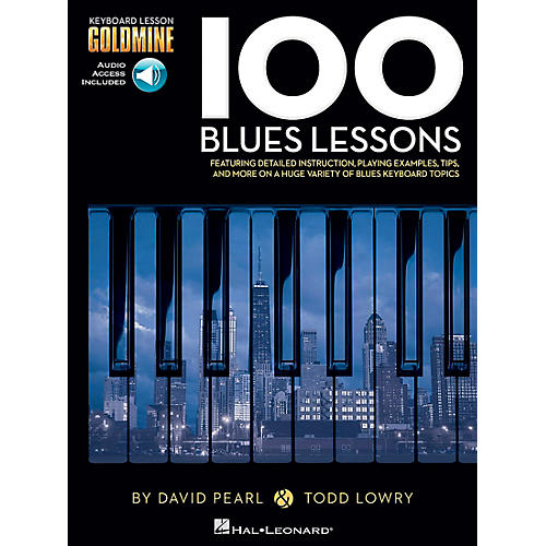 Hal Leonard 100 Blues Lessons - Keyboard Lesson Goldmine Series Series Book/2-CD Pack-thumbnail