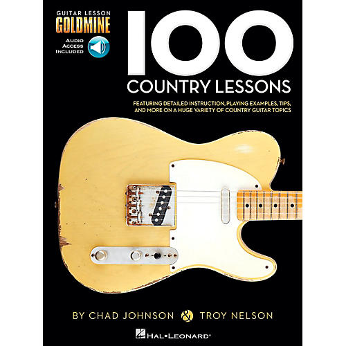 Hal Leonard 100 Country Lessons  Guitar Lesson Goldmine Series Book/CD-thumbnail