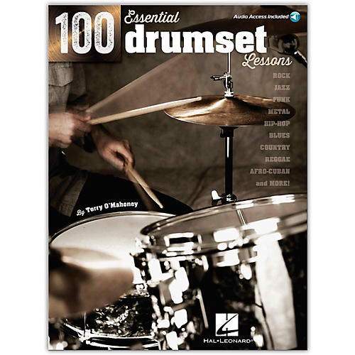 Hal Leonard 100 Essential Drumset Lessons Book/CD-thumbnail