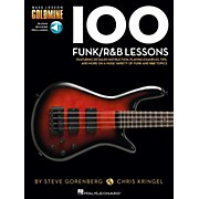 Hal Leonard 100 Funk/R&B Lessons - Bass Lesson Goldmine Series Book/Online Audio