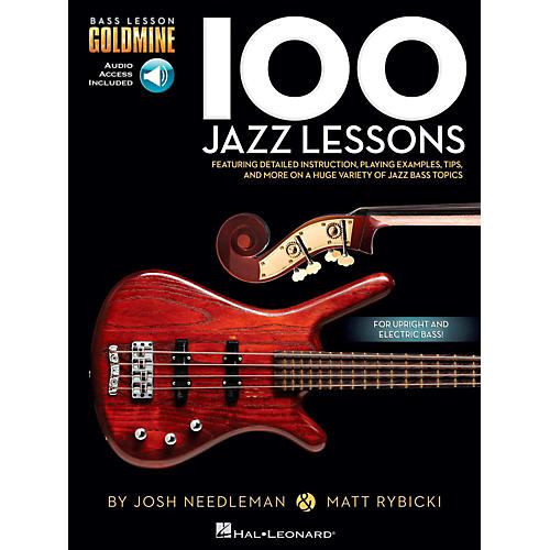 Hal Leonard 100 Jazz Lessons - Bass Lesson Goldmine Series Book/Online Audio-thumbnail