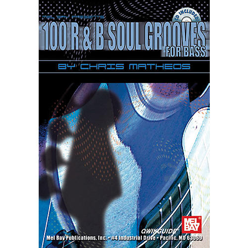 Mel Bay 100 R&B Soul Grooves for Bass Book and CD-thumbnail