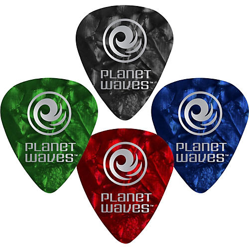D'Addario Planet Waves 100 Standard Picks Celluloid Heavy Red Pearl