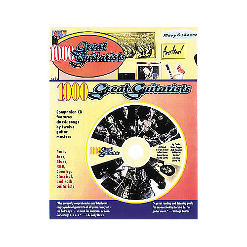 Backbeat Books 1000 Great Guitarists (Book/CD)-thumbnail