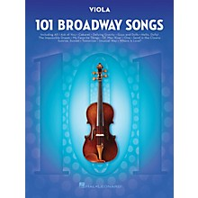Hal Leonard 101 Broadway Songs for Viola Instrumental Folio Series Softcover