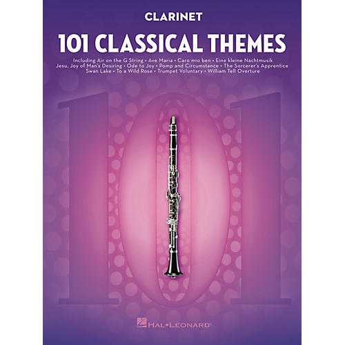 Hal Leonard 101 Classical Themes for Clarinet Instrumental Folio Series Softcover