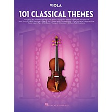 Hal Leonard 101 Classical Themes for Viola Instrumental Folio Series Softcover