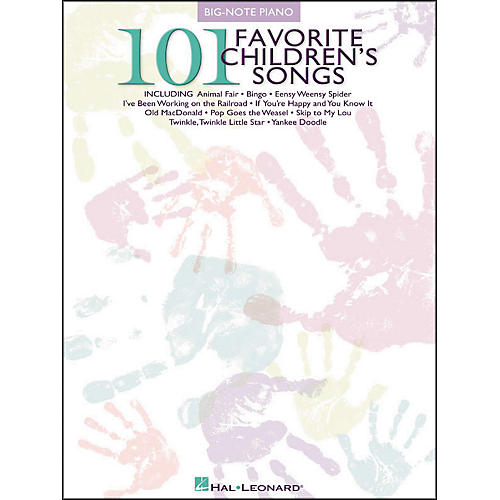 Hal Leonard 101 Favorite Children's Songs for Big Note Piano