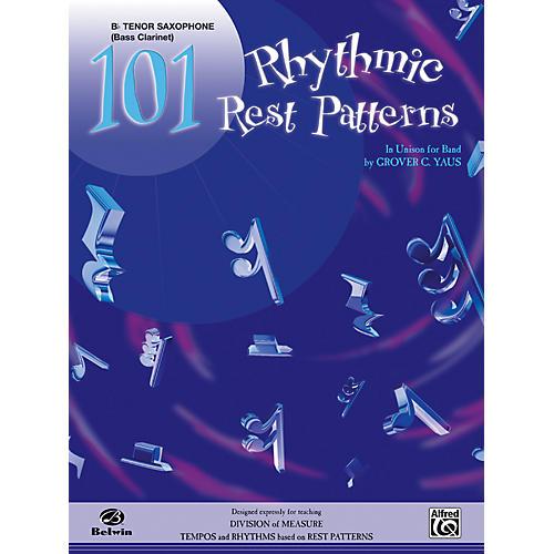 Alfred 101 Rhythmic Rest Patterns B-Flat Tenor Saxophone-thumbnail