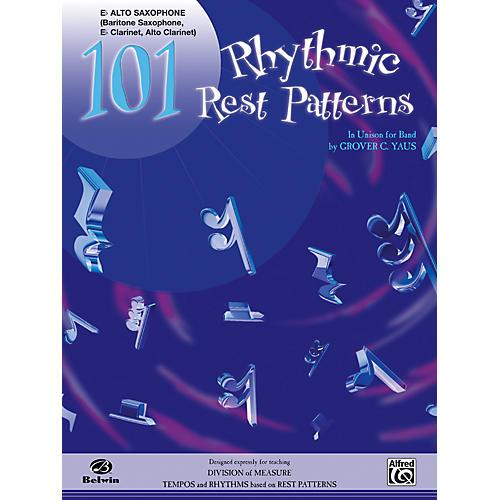 Alfred 101 Rhythmic Rest Patterns E-Flat Alto Saxophone-thumbnail