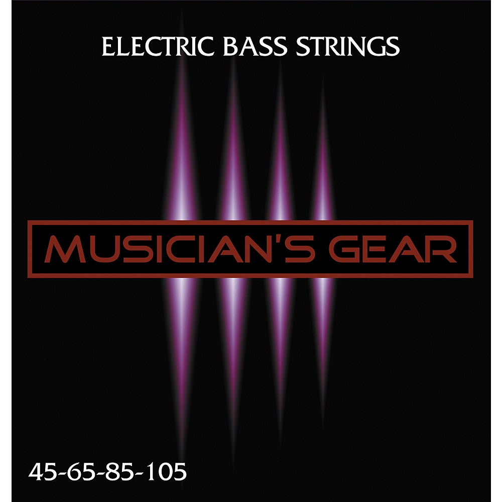 Musician's Gear Electric 4-String Nickel Plated Steel Bass Strings 1275776906105