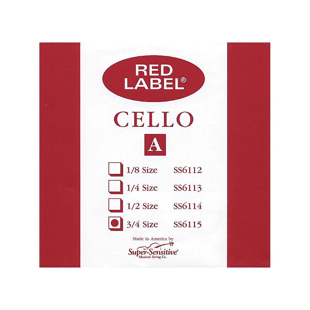 Super Sensitive Red Label Cello A String  3/4 1274228070603