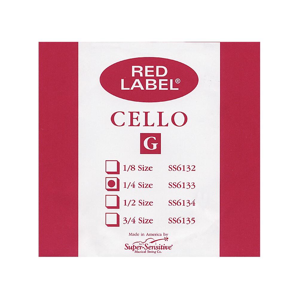 Super Sensitive Red Label Cello G String  1/4 1274228070767