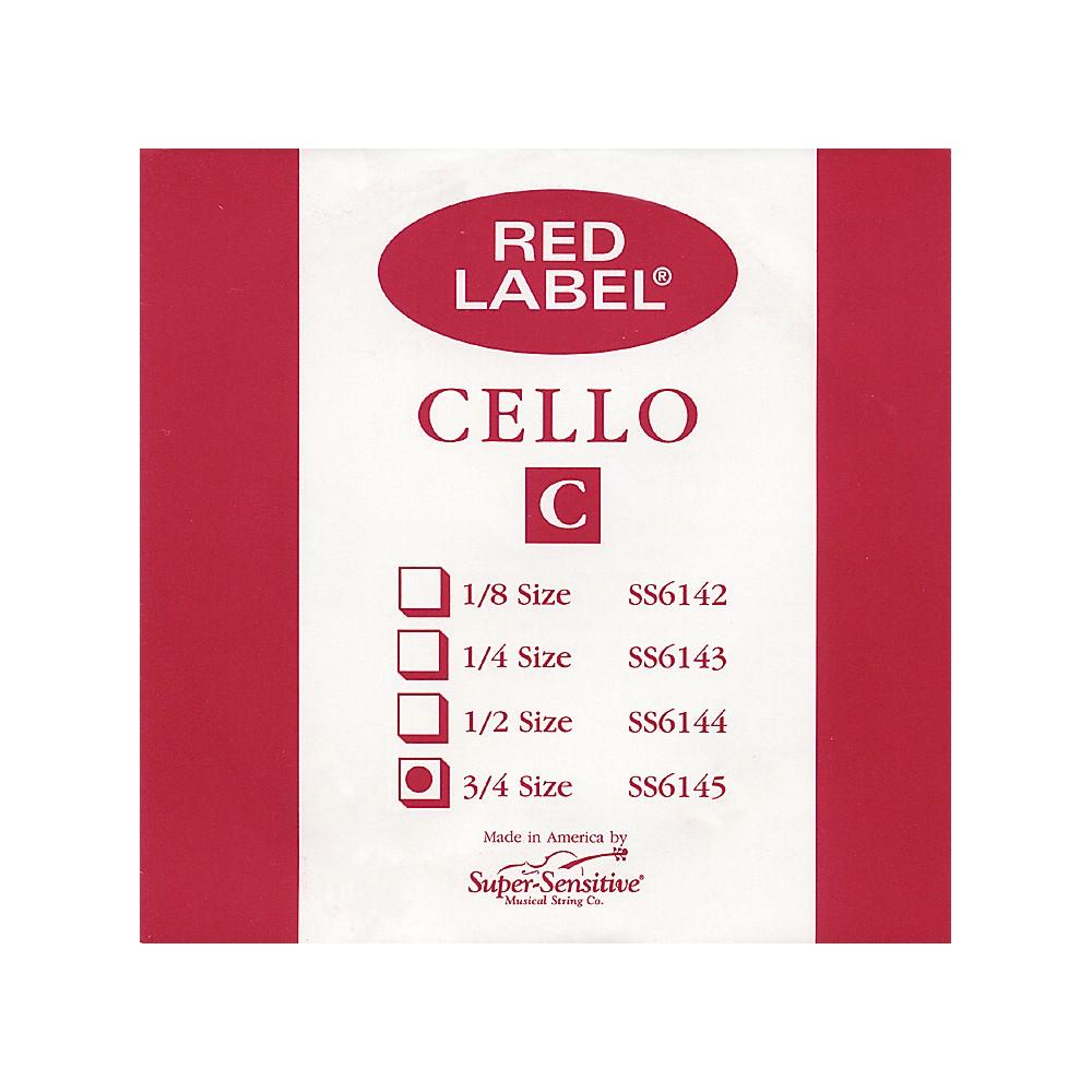Super Sensitive Red Label Cello C String  3/4 1274228070643