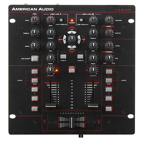 American Audio 10MXR 2-Channel MIDILOG DJ Mixer