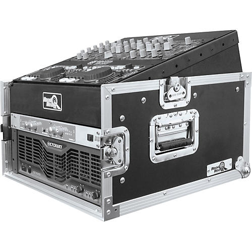 Road Runner 10U Slant Mixer Rack, 4U Vertical Rack System