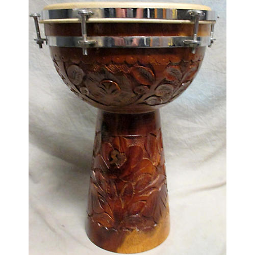 Miscellaneous 10in HAND CARVED DOUMBEK Hand Drum
