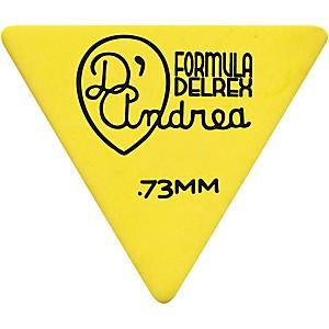 D'andrea Shell Celluloid 355 Triangle Picks One Dozen Yellow .73 Mm