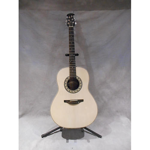 Ovation 111-1 Acoustic Electric Guitar White