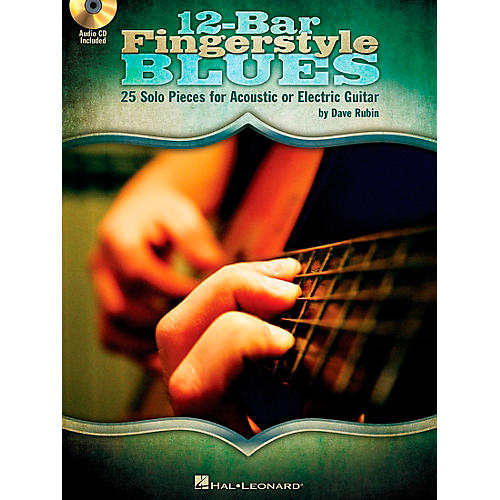 Hal Leonard 12-Bar Fingerstyle Blues - 25 Solo Pieces For Acoustic Or Electric Guitar Book/CD