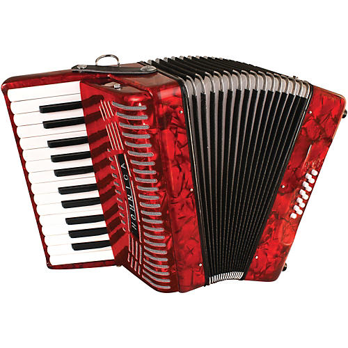 Hohner 12 Bass Entry Level Piano Accordion Red