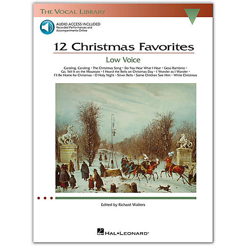 Hal Leonard 12 Christmas Favorites for Low Voice Book/Online Audio