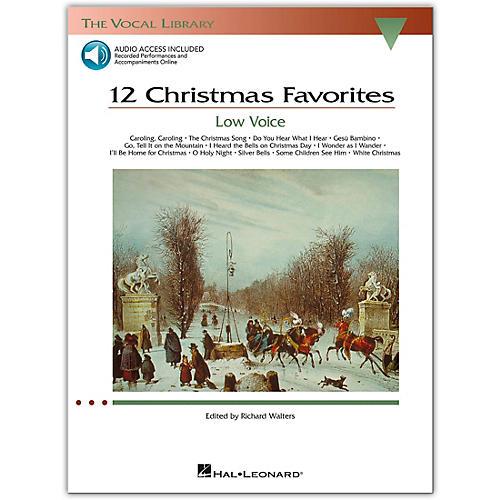 Hal Leonard 12 Christmas Favorites for Low Voice Book/Online Media-thumbnail