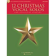 G. Schirmer 12 Christmas Vocal Solos For Classical Singers - Low Voice Book/CD